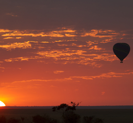 Hot Air Balloon Sunrises over the Desert - Robert Mark Safaris - Luxury African Safaris